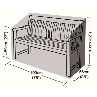 Deluxe - 3/4 Seater Bench Seat Cover - 193cm