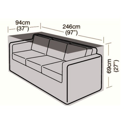 Deluxe - 3 Seater Rattan Sofa Cover - Large - 246cm