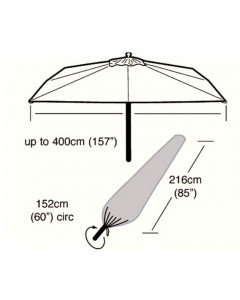 Deluxe - 4m Round Giant Parasol Cover - 216cm