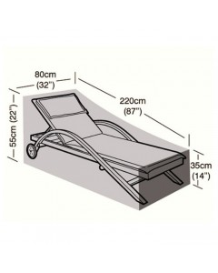 Deluxe - Large Sun Lounger Cover - 220cm