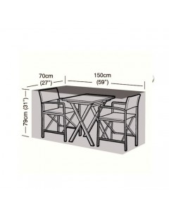 Deluxe - 2 Seater Large Bistro Set Cover - 150cm