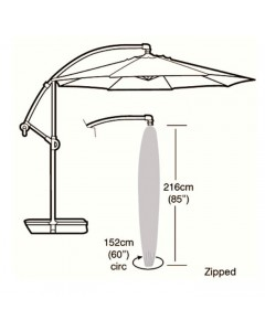 Deluxe - 3m Round Cantilever Parasol Cover - 216cm