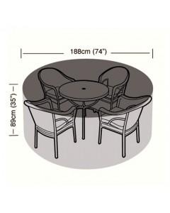 Preserver - 4/6 Seater Circular Patio Set Cover - 188cm