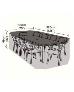 Preserver - 8/10 Seater Rectangular Patio Set Cover - 320cm