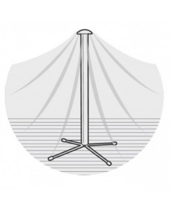Table Top Centre Water Shedding Pole