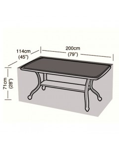 Deluxe - 8 Seater Rectangular Table Cover - 196cm