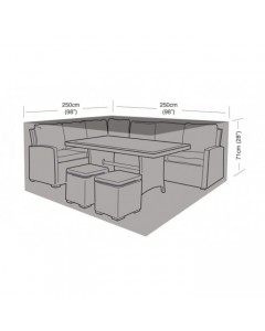 Deluxe - Small Square Casual Dining Cover