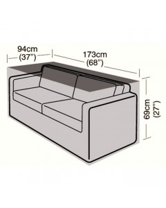 Deluxe - 2/3 Seater Rattan Sofa Cover - Large - 173cm