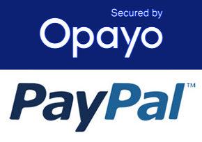 Opayo and Paypal logos