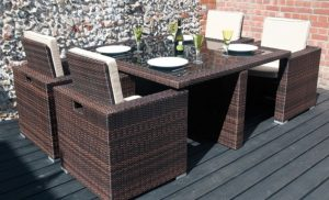 Rattan Cube Set Covers For Sale